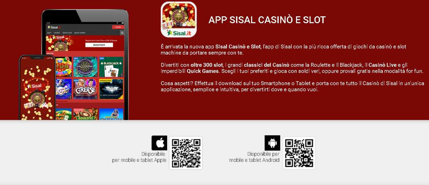 Sisal casino games app