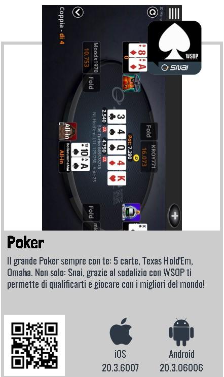 Snai poker app